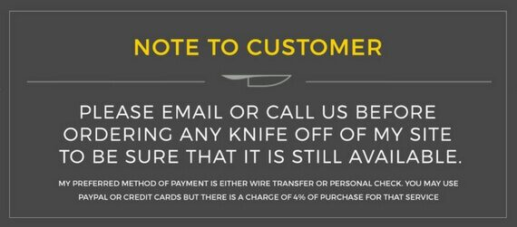 Note To Customer
