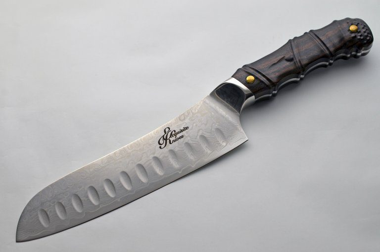 Exquisiteknives Wood Santoku