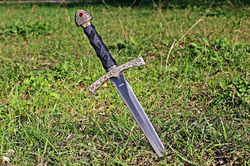sword in the grass