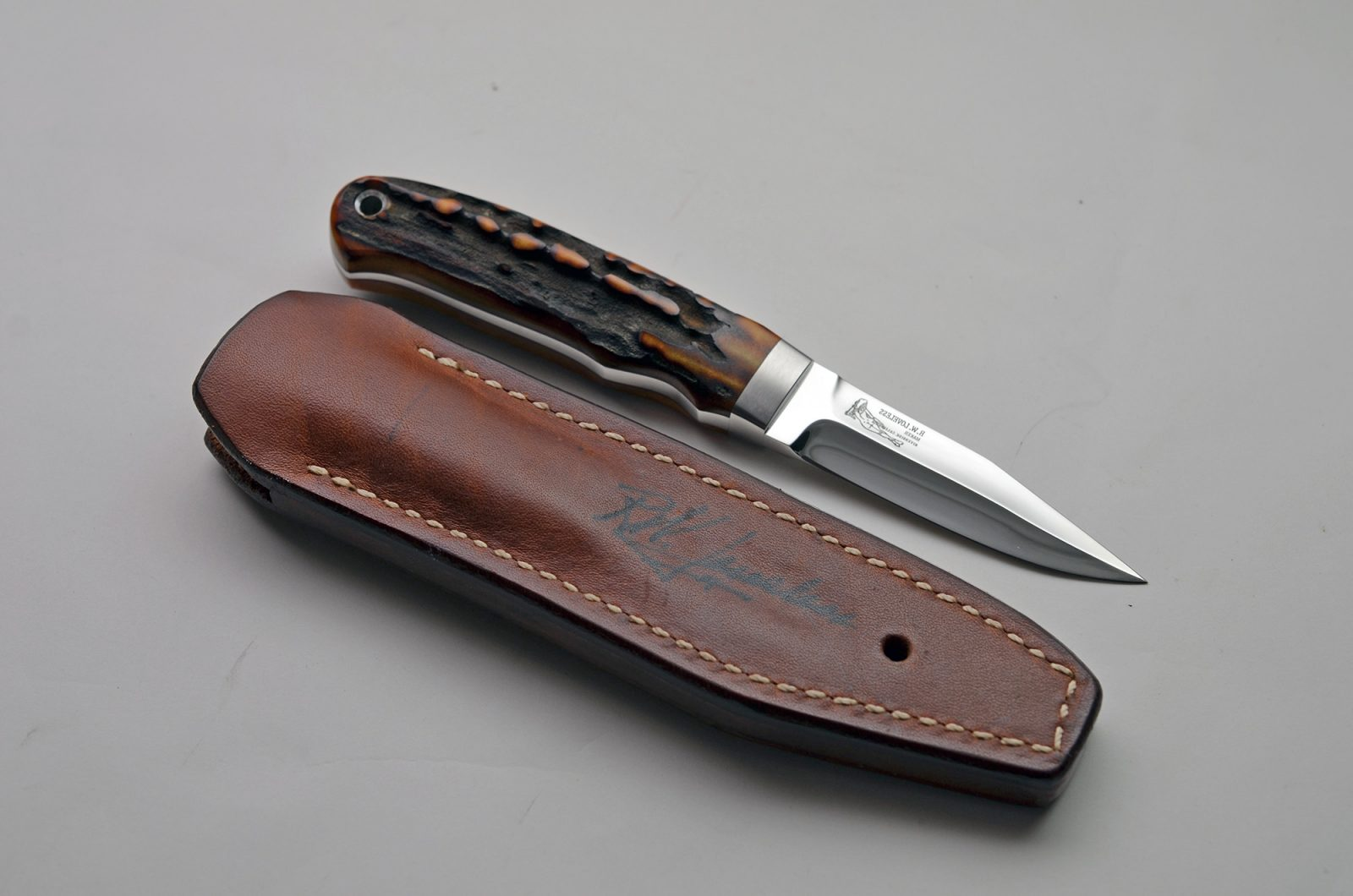 bob loveless custom knife with sheath