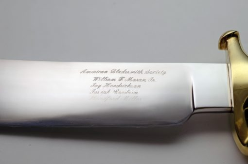 ABS Mastersmith Collaboration Knife #1 engraving