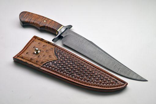 Ben Seward Damascus Fighter - knife and sheath