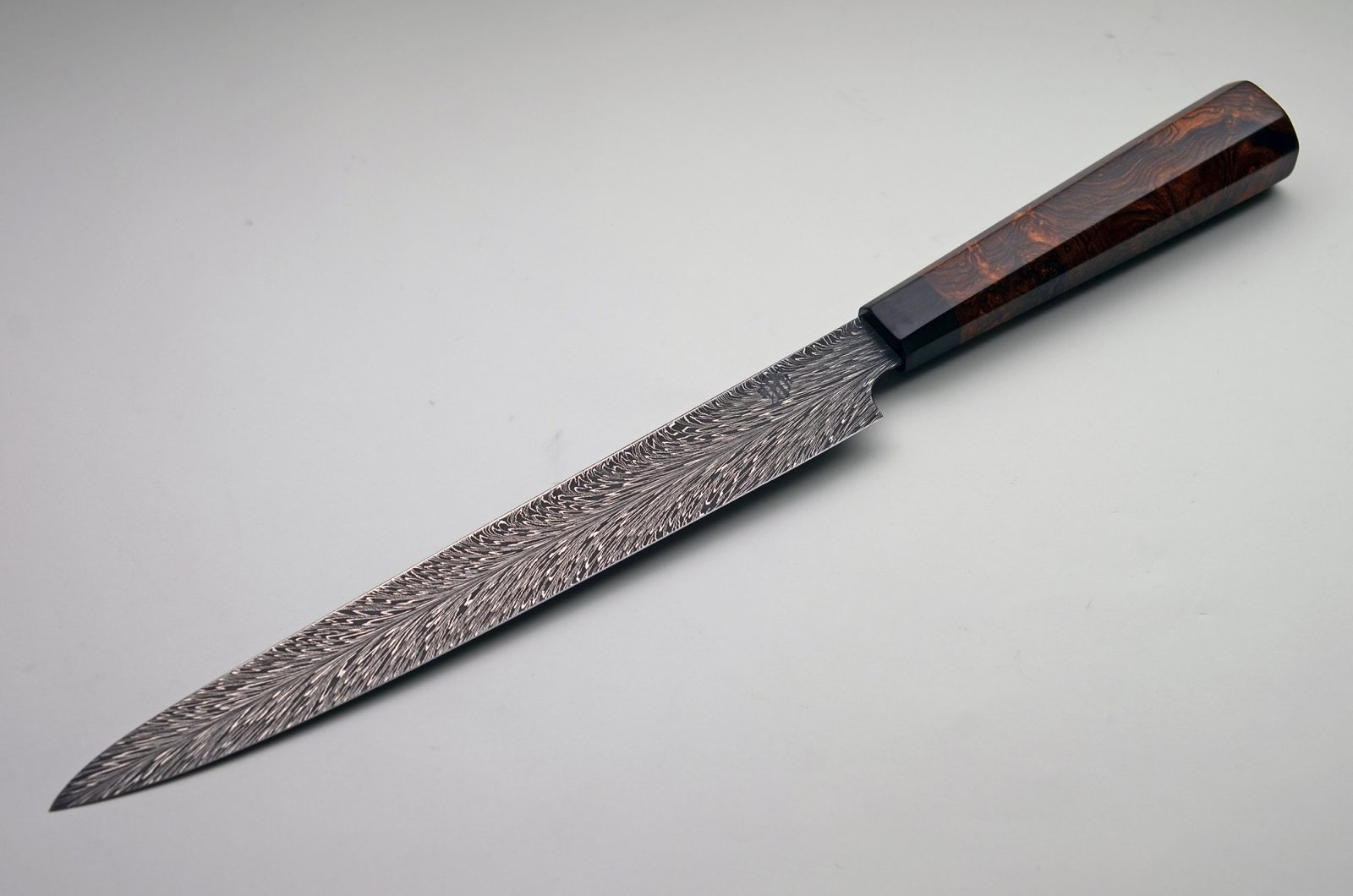 HHH Feather Damascus Kitchen Slicer