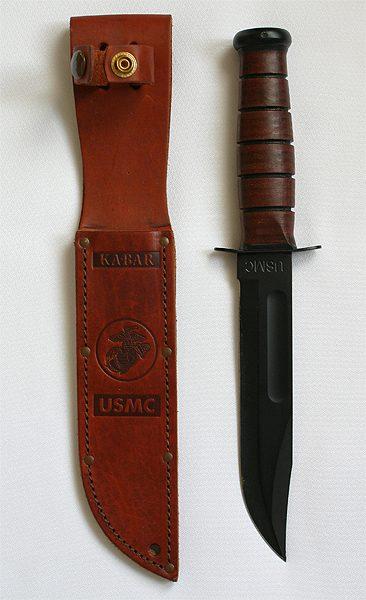 Ka-Bar knife close up